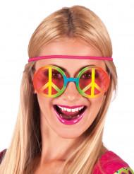 Regnbue hippiebriller - voksen