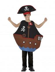 Kostume piratskib til børn