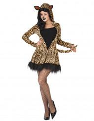 Leopard kostume damestørrelse