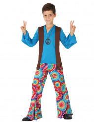 Kostume hippie blå til drenge