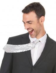 Sølv skinnende slips - voksen