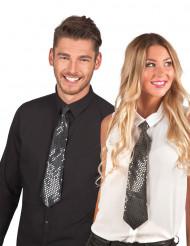 Sort skinnende slips - voksen