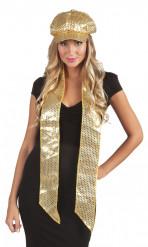 Skinnende guld halstørklæde - voksen