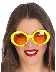 Gule hippiebriller