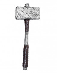 Hammer sølvfarve til voksne i plastic