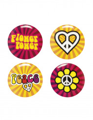 Hippie Flower Power badges