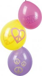 Balloner 6 stk Flower Power 25 cm