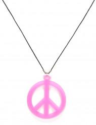 Lyserød hippie halskæde - voksen