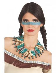 Blå indianer halskæde - kvinde