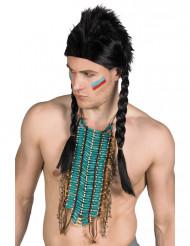 Lang blå indianer halskæde - voksen
