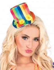 Multifarvet mini-hat - kvinde