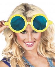 Gule kæmpe runde briller