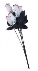 Rosenbuket bestående af 6 hvide blodige roser