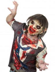 Maske luksus latex blodig zombie med hår Halloween