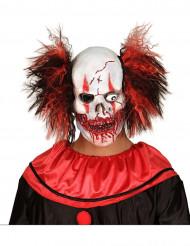 Blodig Halloween klovnemaske til voksne