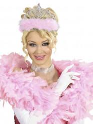 Diadem prinsesse med lyserød pels