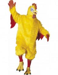 Gul kyllingedragt maskot voksen