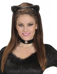 Hårbøjle katteører sorte til voksne
