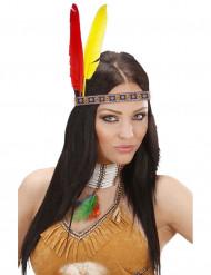 Pandebånd indianer med fjer til voksne