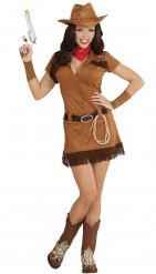 Udklædningsdragt western cowgirl voksen