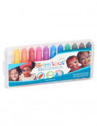 Pakke 12 makeup blyanter flerfarvede Grim