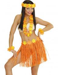 Orangegult Hawaii-sæt voksen