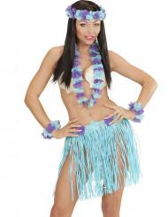 Hawaii-inspireret sæt i blåt og lilla