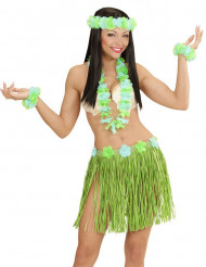 Sæt Hawaii blåt og grønt til voksne