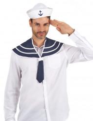 Hat og krave blå til voksne