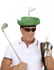 Kasket golfspiller grøn til voksne