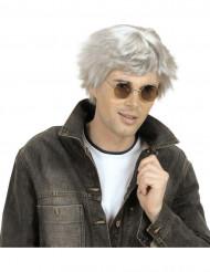 Grå korthåret paryk mand