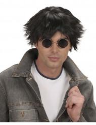 Sort korthåret paryk mand