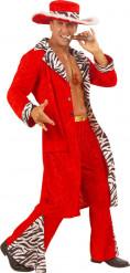 Kostume rød pimp til mænd