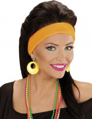Neonfarvede gule øreringe