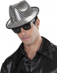 Sølvfarvet Borsalino hat