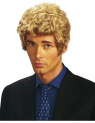 Korthåret paryk med krøller blond