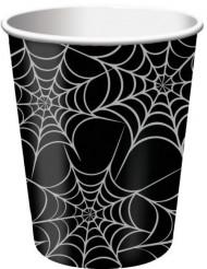 Papkrus 8 stk. edderkoppespind Halloween