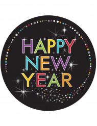 Tallerkener 8 stk. Happy New Year 23 cm