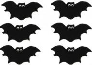 Kagepynt 6 flagermus sort Halloween