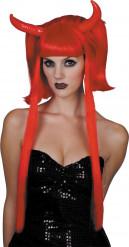 Paryk djævel rød lange totter Halloween