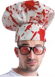 Blodig kokkehue Halloween voksen