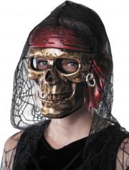 Maske piratdødningehoved voksen