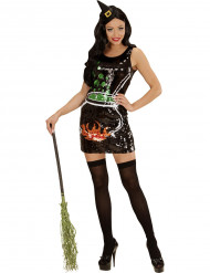 Kostume glimmer heks til kvinder Halloween