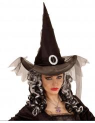 Sort heksehat Halloween kvinde