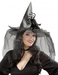 Heksehat med tyl og spindelvæv Halloween