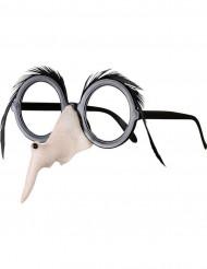 Heksebriller med næse og øjenbryn Halloween