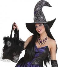 Håndtaske med spindelvæv Halloween