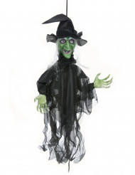 Dekoration levende heks lysende og talende til Halloween