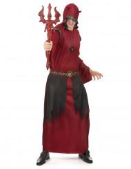 Helvedes Grev kostume rød til mænd