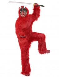 Kostume rød djævel luxe Halloween